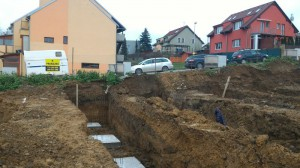 Novostavba řadových domů v Říčanech